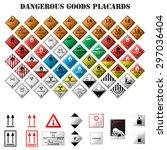 set of dangerous goods placards ... | Shutterstock .eps vector #297036404