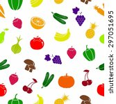 vegetables and fruits icon.... | Shutterstock .eps vector #297051695