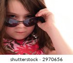 Little Girl Wearing Sunglasses...