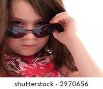 Little Girl Wearing Sunglasses...