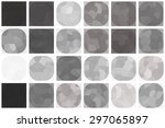 bright abstract mosaic grey... | Shutterstock . vector #297065897