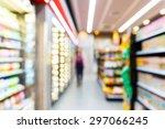 blurred convenience store ... | Shutterstock . vector #297066245