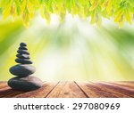 Balanced Seven Zen Stones On...