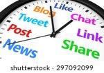 social media time management... | Shutterstock . vector #297092099