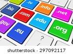 website and internet domain... | Shutterstock . vector #297092117