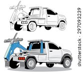 an image of a tow truck. | Shutterstock .eps vector #297093239