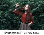 portrait of a beautiful girl in ... | Shutterstock . vector #297095261