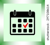calendar sign icons  vector... | Shutterstock .eps vector #297108614