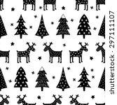 Seamless Retro Christmas...