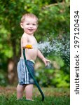 child  boy or kid plays with... | Shutterstock . vector #297120434