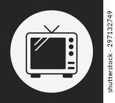 tv icon | Shutterstock .eps vector #297132749