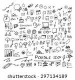 business doodles | Shutterstock .eps vector #297134189