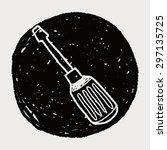 screwdrivers doodle | Shutterstock . vector #297135725