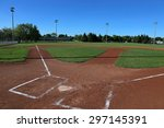 a wide angle shot of a baseball ... | Shutterstock . vector #297145391