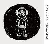 diver doodle   Shutterstock . vector #297145619