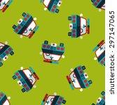 transportation police car flat... | Shutterstock .eps vector #297147065