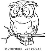 Coloring Page With Cute Owl. Outline Drawing Royalty Free Cliparts,  Vectors, And Stock Illustration. Image 96675100.