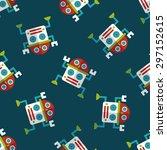 robot flat icon eps10 seamless... | Shutterstock .eps vector #297152615
