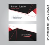 vector design business card.... | Shutterstock .eps vector #297160235