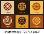 set of six abstract logo... | Shutterstock .eps vector #297161369