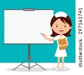 nurse on presentation. nurse... | Shutterstock .eps vector #297161741
