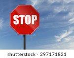 stop sign   Shutterstock . vector #297171821