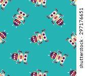 robot concept flat icon eps10... | Shutterstock .eps vector #297176651