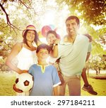 family happiness parents... | Shutterstock . vector #297184211