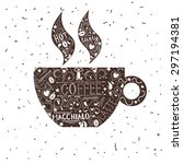 vintage coffee cup   Shutterstock . vector #297194381