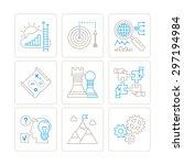 set of bitmap business icons...   Shutterstock . vector #297194984