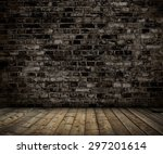 interior with brick gray wall... | Shutterstock . vector #297201614
