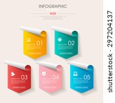 business infographic template... | Shutterstock .eps vector #297204137