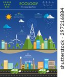 creative ecology infographic... | Shutterstock .eps vector #297216884