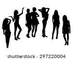 woman silhouettes | Shutterstock .eps vector #297220004