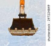 Excavator Bucket On Blue Sky ...