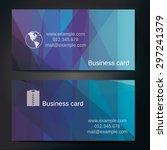 stylish business cards with... | Shutterstock .eps vector #297241379