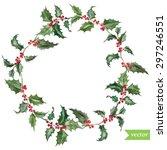 watercolor vector christmas... | Shutterstock .eps vector #297246551