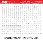 vector linear ui ux icons for... | Shutterstock .eps vector #297247901