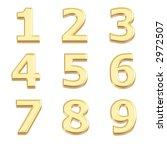gold 3d numbers   Shutterstock . vector #2972507