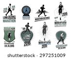 set athletics logotype labels... | Shutterstock .eps vector #297251009