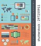 it infographics vector flat... | Shutterstock .eps vector #297255911