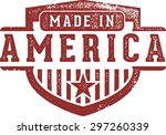 made in america crest rubber... | Shutterstock .eps vector #297260339