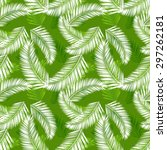 tropical palm leaves seamless... | Shutterstock .eps vector #297262181