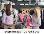 Smiling Blonde Doing Shopping...