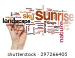 sunrise word cloud | Shutterstock . vector #297266405