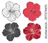 Hibiscus. Vector Set Of ...