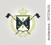 badge crest pattern for golf | Shutterstock .eps vector #297276131