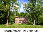 historic house surrounded by... | Shutterstock . vector #297285731