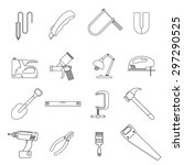 Line Icons Of Tools. Contains...