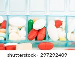 medicine tablet and capsule in... | Shutterstock . vector #297292409